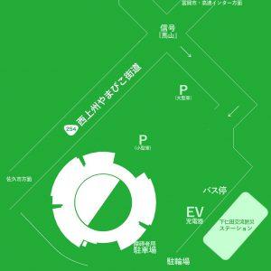 道の駅しもにた・駐車場マップ